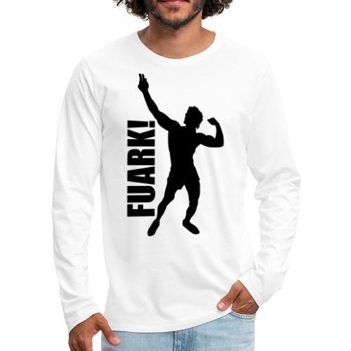 Zyzz Silhouette FUARK - Men's Premium Long Sleeve T-Shirt