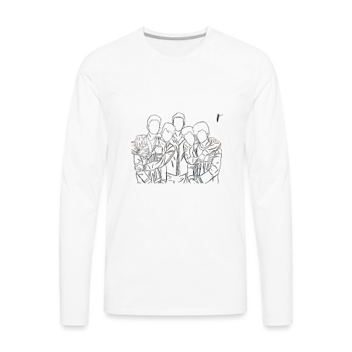 Why Dont We Outline In White - Men's Premium Long Sleeve T-Shirt