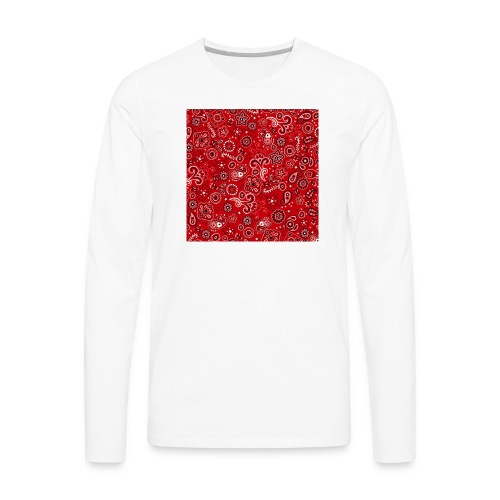 Red bandana square box - Men's Premium Long Sleeve T-Shirt