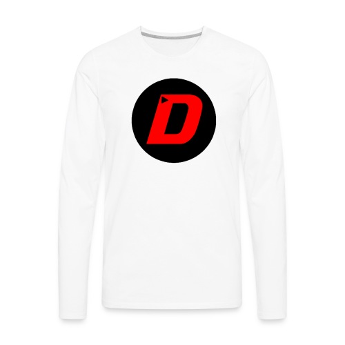 DAVONTAETV Black/Red - Men's Premium Long Sleeve T-Shirt