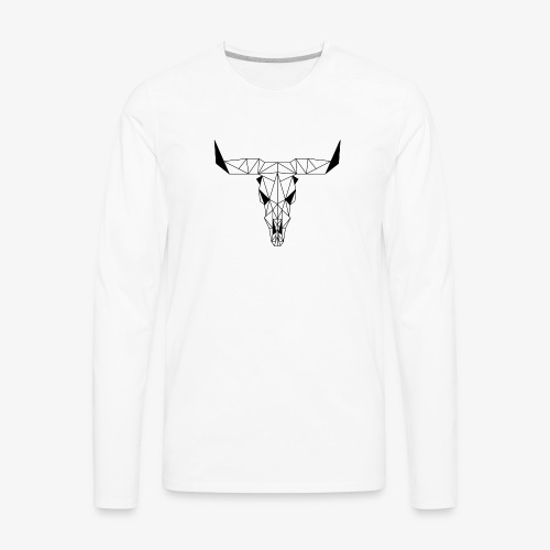 Low poly skull - Men's Premium Long Sleeve T-Shirt