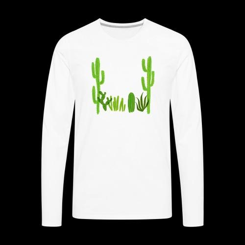 cacti shirt - Men's Premium Long Sleeve T-Shirt