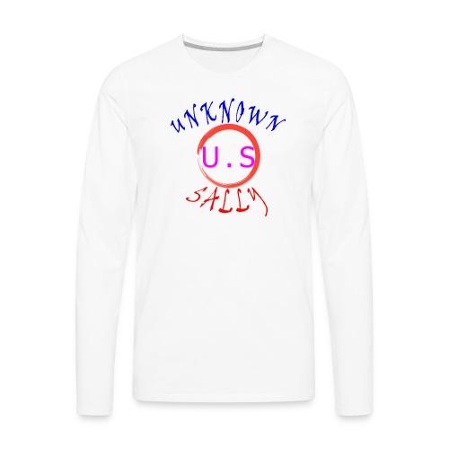 Initial Hoodie - Men's Premium Long Sleeve T-Shirt