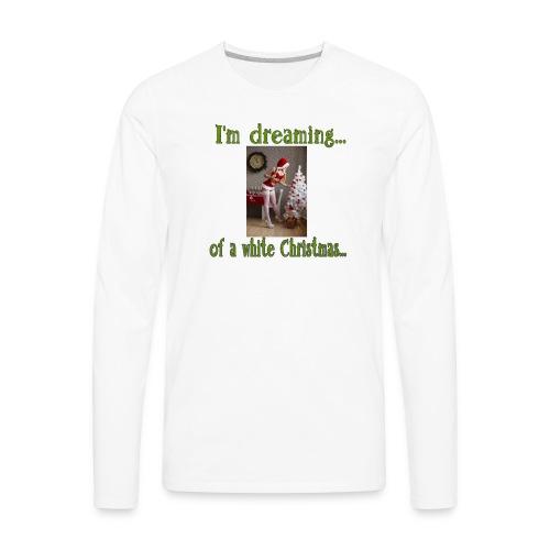 White Christmas - Men's Premium Long Sleeve T-Shirt