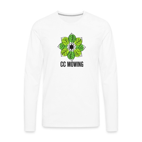 CC Mowing Logo - Men's Premium Long Sleeve T-Shirt