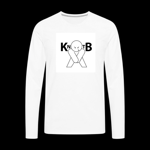 KickNtheBalls Logo - Men's Premium Long Sleeve T-Shirt