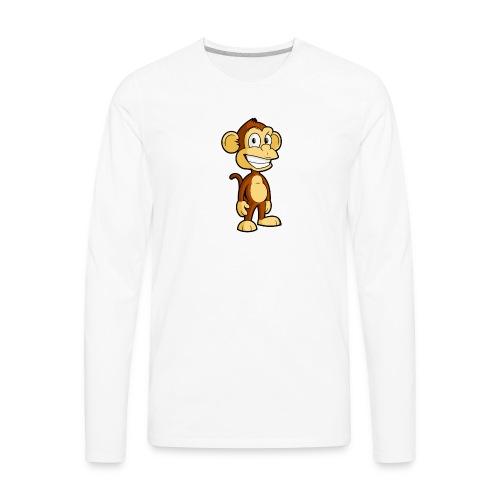 Cartoon monkey - Men's Premium Long Sleeve T-Shirt