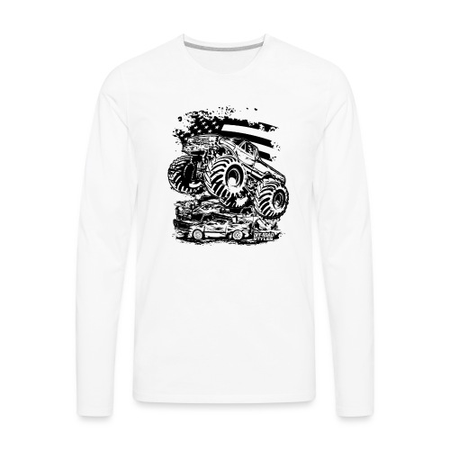 Monster Truck USA - Men's Premium Long Sleeve T-Shirt