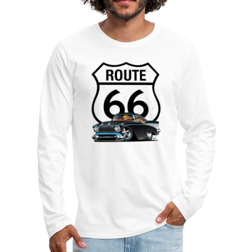 Route 66 Classic Car Nostalgia - Men's Premium Long Sleeve T-Shirt