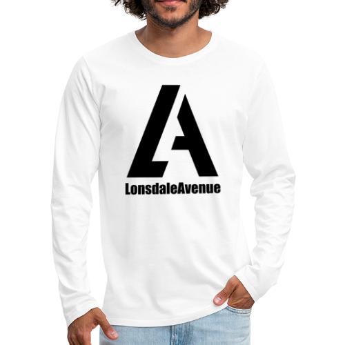 Lonsdale Avenue Logo Black Text - Men's Premium Long Sleeve T-Shirt