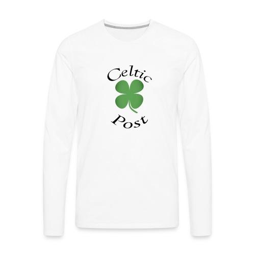 Celtic Post Shamrock - Men's Premium Long Sleeve T-Shirt
