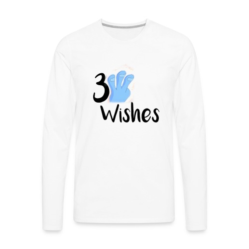 3 Wishes Abstract Design. - Men's Premium Long Sleeve T-Shirt
