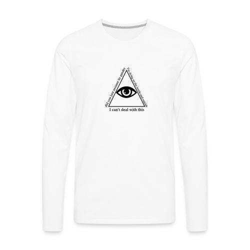 white_eye_w - Men's Premium Long Sleeve T-Shirt