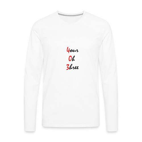 403 tee black - Men's Premium Long Sleeve T-Shirt