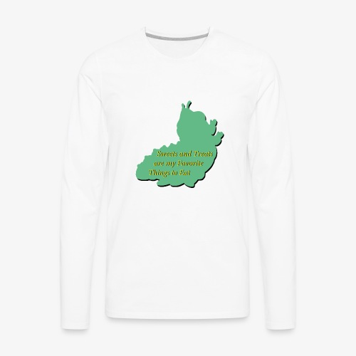 Sweets and Treats on the Chew Chew Train - Men's Premium Long Sleeve T-Shirt