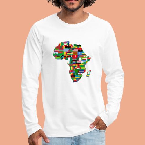Africa Map Countries - Men's Premium Long Sleeve T-Shirt