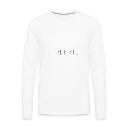 Prevail White - Men's Premium Long Sleeve T-Shirt