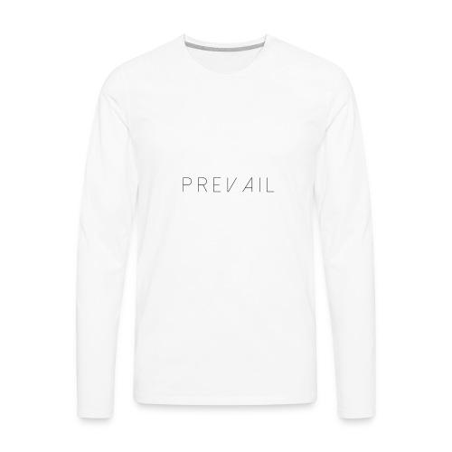 Prevail White - Men's Premium Long Sleeve T-Shirt