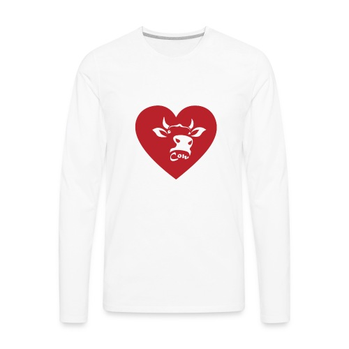 Cow Heart - Men's Premium Long Sleeve T-Shirt
