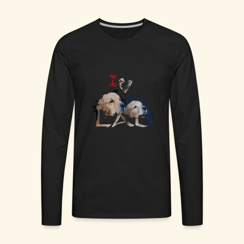 I love Lab - Men's Premium Long Sleeve T-Shirt