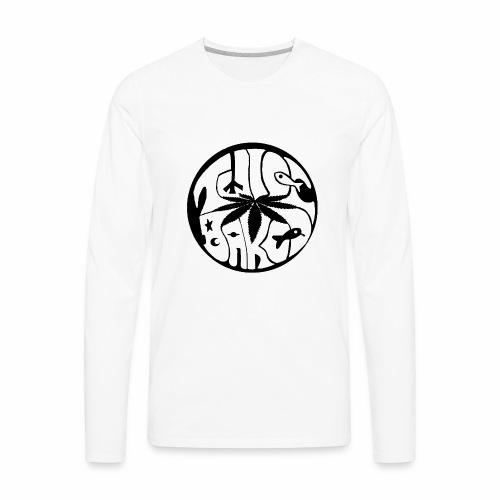 tWicEbakED logo, black circle - Men's Premium Long Sleeve T-Shirt