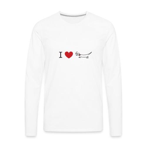 I love Dachshund - Men's Premium Long Sleeve T-Shirt