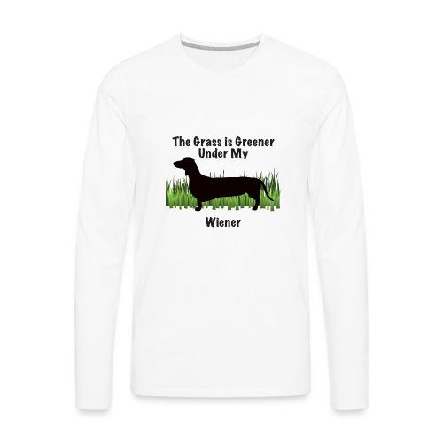 Wiener Greener Dachshund - Men's Premium Long Sleeve T-Shirt