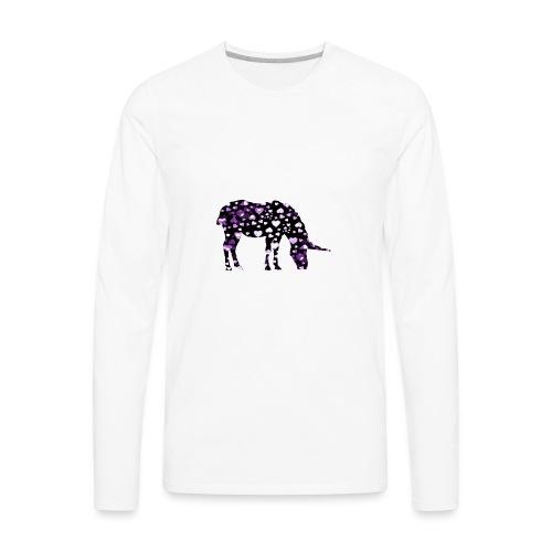 Unicorn Hearts purple - Men's Premium Long Sleeve T-Shirt