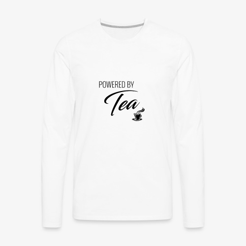 Powered by Tea - Men's Premium Long Sleeve T-Shirt
