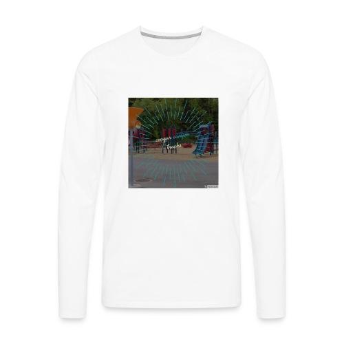 t-shirt cougar canyon tracks - Men's Premium Long Sleeve T-Shirt