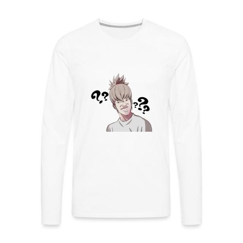Taku confused (Smaller marks) - Men's Premium Long Sleeve T-Shirt