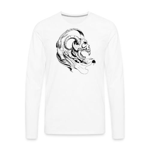 demon skull - Men's Premium Long Sleeve T-Shirt