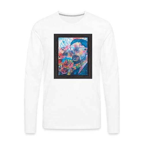 Malcolm X by Sherwin Long - Men's Premium Long Sleeve T-Shirt