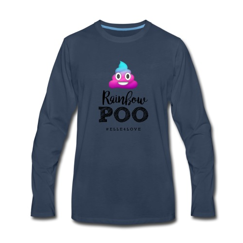 Rainbow Poo - Men's Premium Long Sleeve T-Shirt