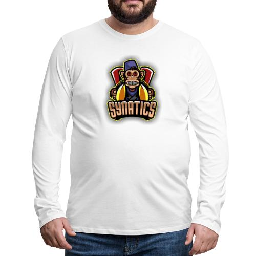 Synatics mascot logo - Men's Premium Long Sleeve T-Shirt