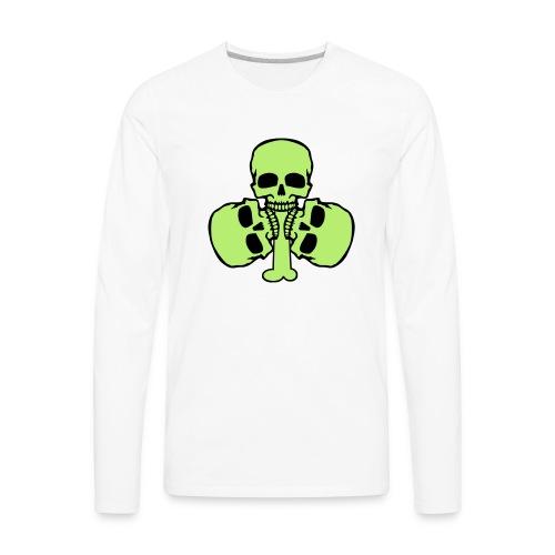 Skull Shamrock w/ Teeth - Men's Premium Long Sleeve T-Shirt