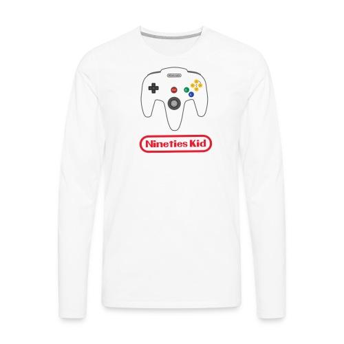 90s kid - Men's Premium Long Sleeve T-Shirt