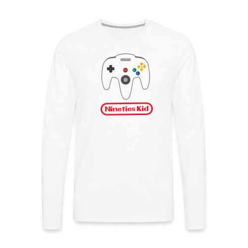 90s kid - Men's Premium Long Sleeve T-Shirt