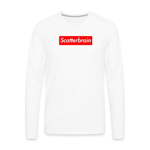 scatterbrain logo - Men's Premium Long Sleeve T-Shirt
