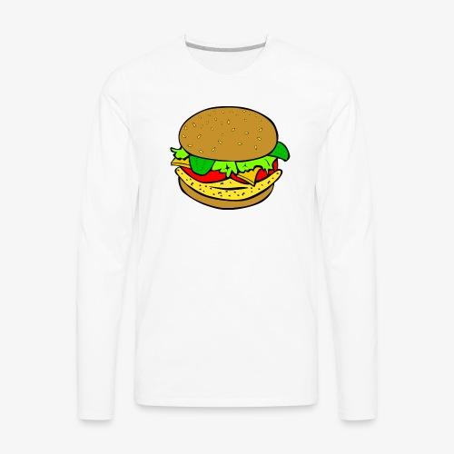 Comic Burger - Men's Premium Long Sleeve T-Shirt