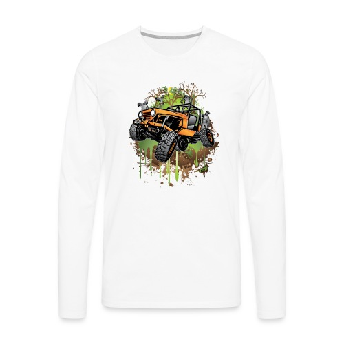 Wrangler Halloween Zombie - Men's Premium Long Sleeve T-Shirt