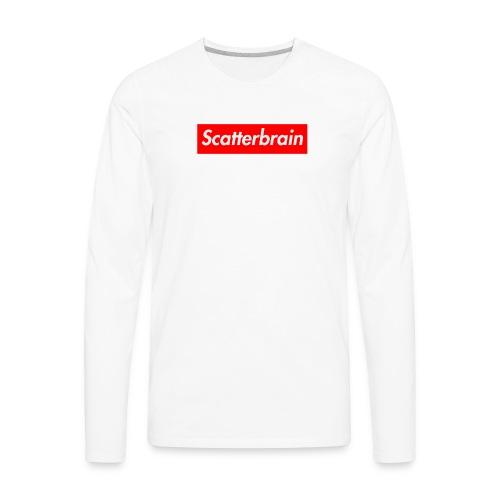 scatterbrain logo - Men's Premium Long Sleeve T-Shirt