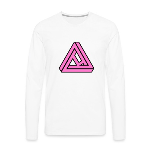 Breast Cancer Awareness Logo - Men's Premium Long Sleeve T-Shirt