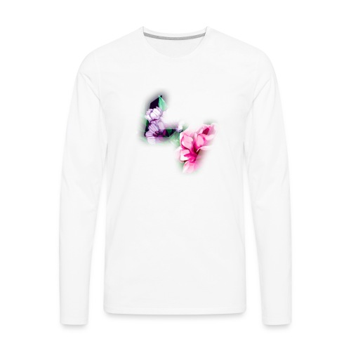 Floral Logo - Men's Premium Long Sleeve T-Shirt