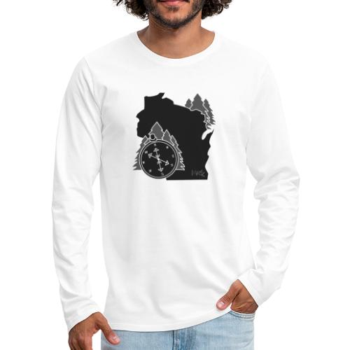 Black/White WI Logo - Men's Premium Long Sleeve T-Shirt