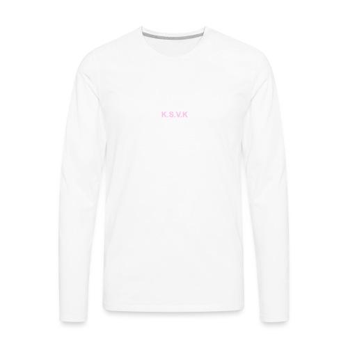 K.S.V.K Pink Edition - Men's Premium Long Sleeve T-Shirt