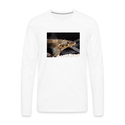 zingel fish face photo - Men's Premium Long Sleeve T-Shirt