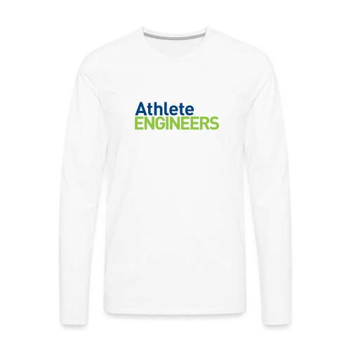 Athlete Engineers - Stacked Text - Men's Premium Long Sleeve T-Shirt
