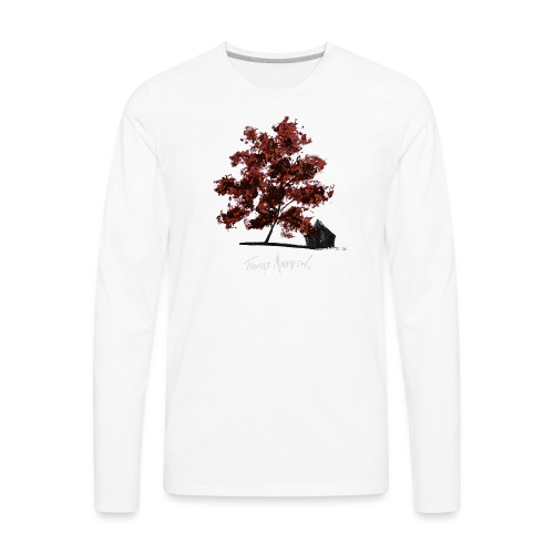 Red Tree design3PNG - Men's Premium Long Sleeve T-Shirt