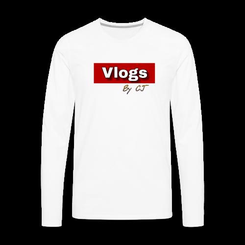 Vlogs by CJ - Men's Premium Long Sleeve T-Shirt